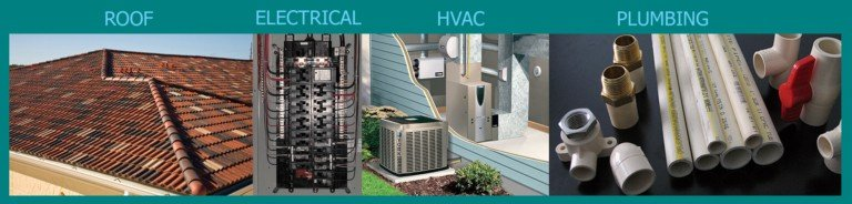 Four Point Inspection includes HVAC, Electrical, Roof and Plumbing